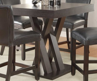 Mannes Cappuccino  5 Pcs Counter Height Table set