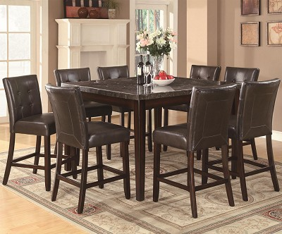 9 Piece Counter Height Table and Stool Set
