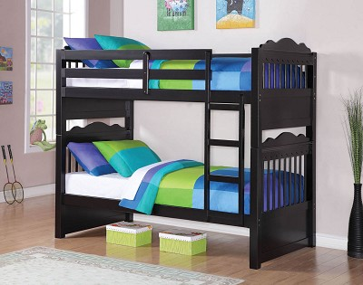 Twin/ Twin Solid Wood Bunk Bed Frame