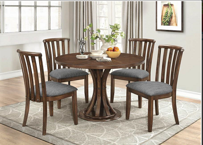 5 Pcs Round Wooden Table set