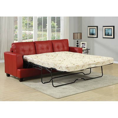 Leatherette Queen Sofa Bed Color Option