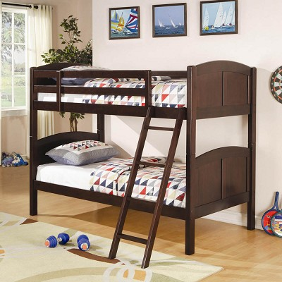Rich cappuccino Finish Youth Twin Bunk Bed