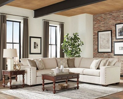Aira Collection Oatmeal Finish Sectional
