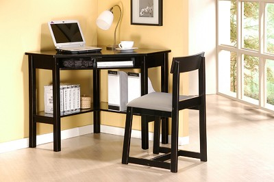 Contemporary Corner Desks with Chair