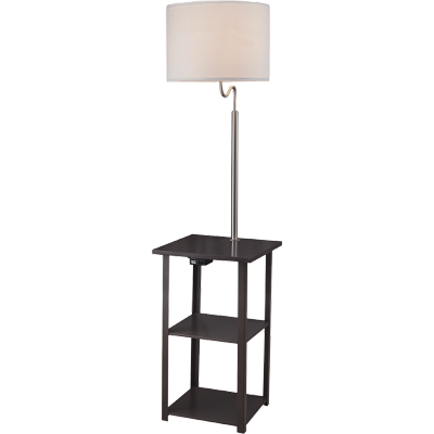 Sofa Side Table with Lamp and Charging Station