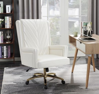 Pearlescent Leatherette Office Chair