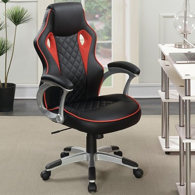 Computer Chair with Red Accents