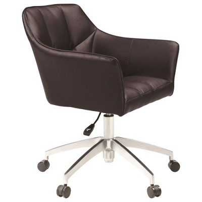 Brown Modern Upholstered Office Chair