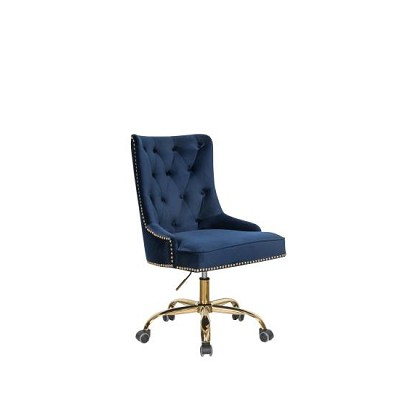Blue Velvet Office Chair