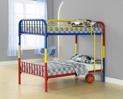 Multi Colored Twin/Twin Convertible Bunk Bed
