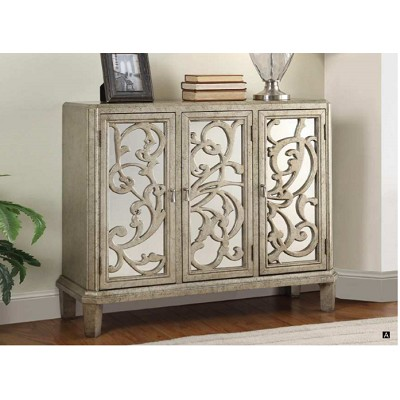 Bailea Silver Gray Finish Console Table
