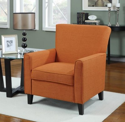 Orange Transitional Arm Chair