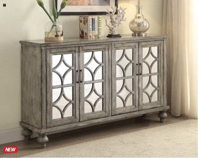 Velika Weathered Gray Finish Console Table