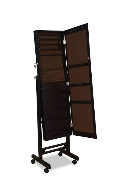 Espresso Finish Jewelry Armoire