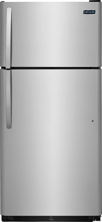 20.5 Cu. Ft Top Mount Refrigerator White/Black/Stainless
