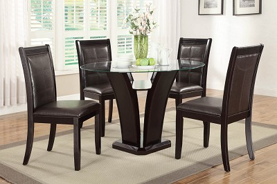 5 Piece Modern Contemporary Dinning Table Set
