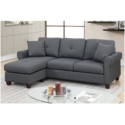 "86"" Compact Sectional- color option"