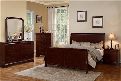 Cherry Cal- King Sleigh Bed Frame