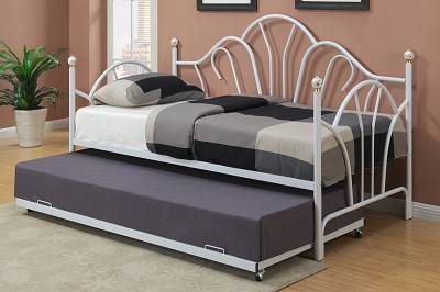 Metal Design Day Bed With Optional Trundle ( temporarily out of Stock )