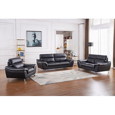 2 Pcs Modern Leather Sofa Set