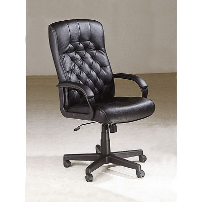 Executive Button Faux Leather Office Chair