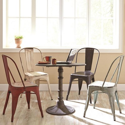 Oswego 5 Round Dining Table Set with Side Chairs