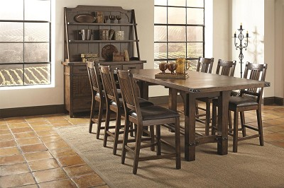 7 Pcs Padima Rustic Counter Height Dining Set