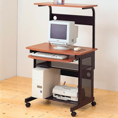 Contemporary Computer Unit With Computer Storage And Casters