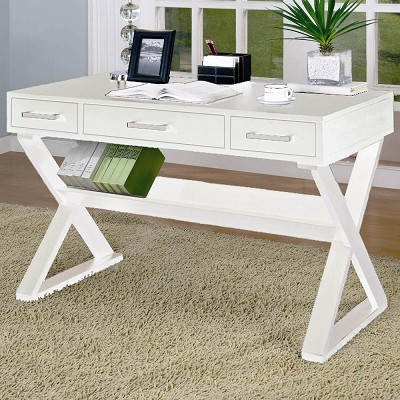 Casual 3-Drawer Desk With Criss-Cross Legs (out of stock) call store for Eta
