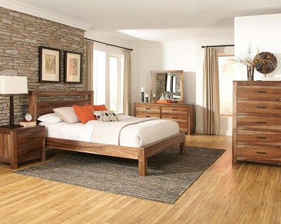 Natural Brown Rustic Bed Frame