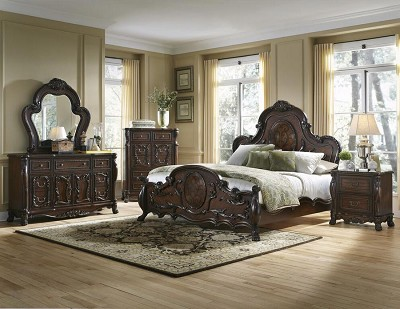 Cherry Traditional Bed Frame