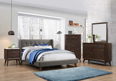 Carrington Low Profile Platform Upholstered Bed