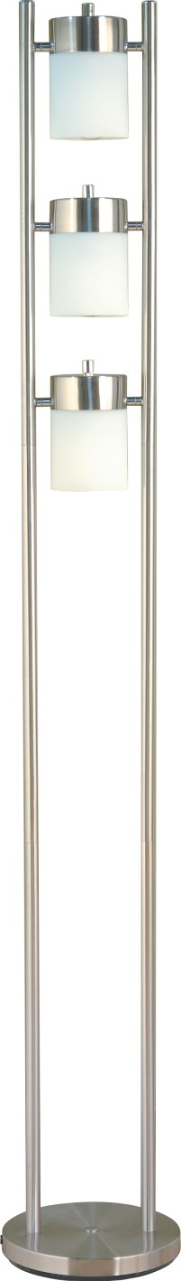 Modern Silver and White Floor Lamp