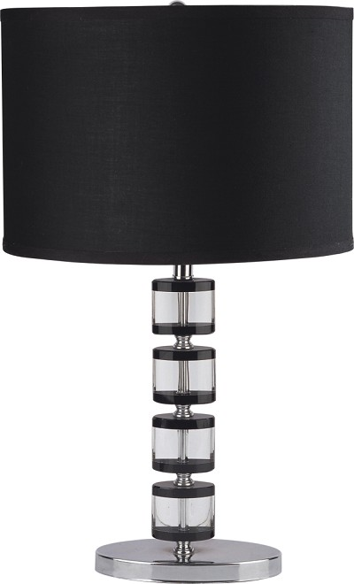 Black and Chrystal Modern Table Lamp