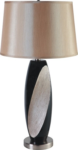 Black and Tan Ceramic Table Lamp