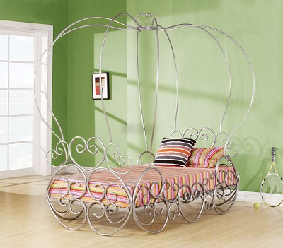 Princess Metal Twin Bed with Canopy