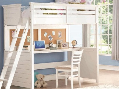 Twin White Finish Loft Bed