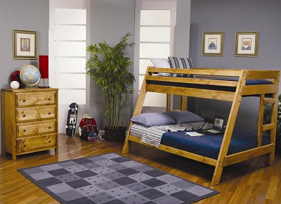 Twin/Full Solid Pine Bunk Bed