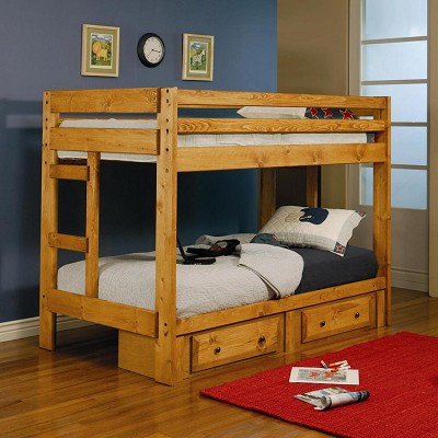 Twin/Twin Solid Pine Bunk Bed