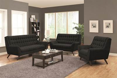 2 Pcs Natalia Retro Sofa w/ Flared Arms