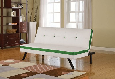 White and Green Sofa Bed