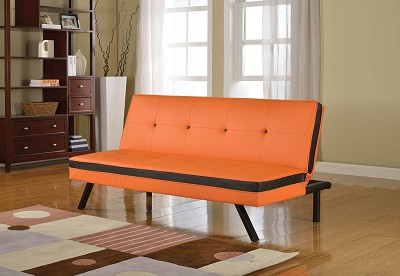 Orange and Black Sofa Bed