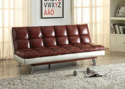 Dark Red Adjustable Sofa
