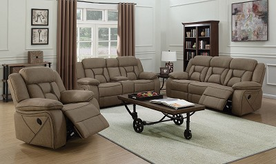 2 Pcs Padded Glider Recliner with Contrast Stitching by Coaster