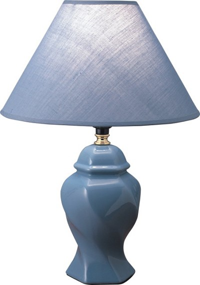 Traditional Blue Finish Table Lamp