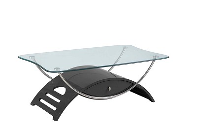 Grey  Glossy Coffee Table