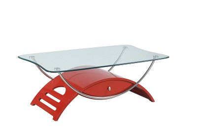 Red Glossy Coffee Table
