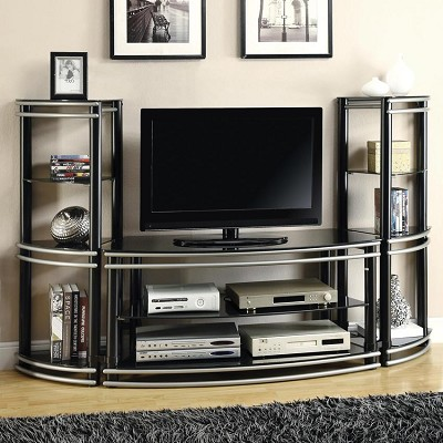 Black and Silver Entertainment Unit