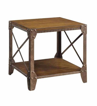Rustic Brown End Table