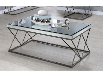 Black Nickel with Mirrored Top CoffeeTable